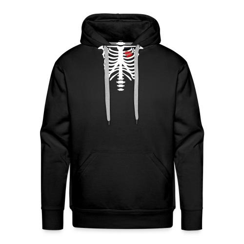skull heart - Sweat-shirt à capuche Premium pour hommes