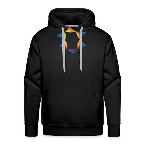 rainbow-geometric-1 - Sweat-shirt à capuche Premium pour hommes