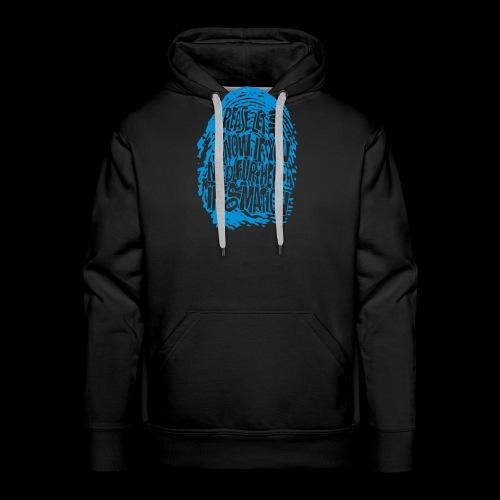 DNA, odcisków palców (niebieski) - Bluza męska Premium z kapturem