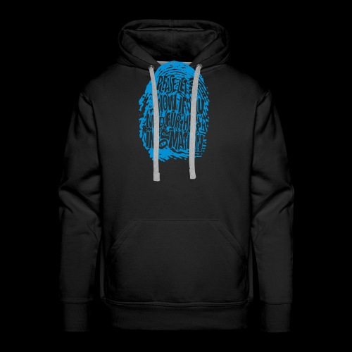 Fingerprint DNA (blue) - Männer Premium Hoodie