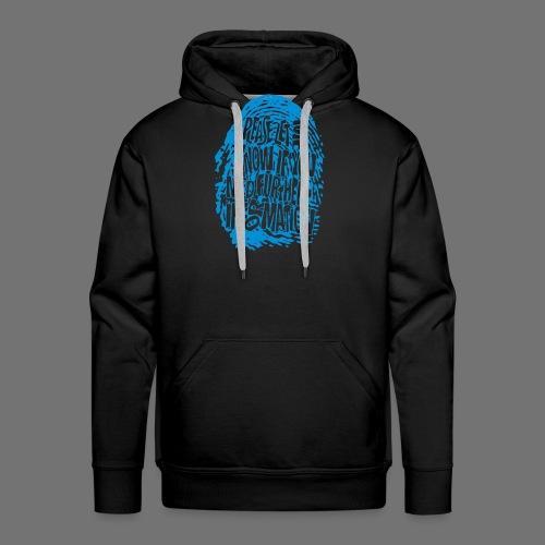 Fingerprint DNA (blå) - Herre Premium hættetrøje