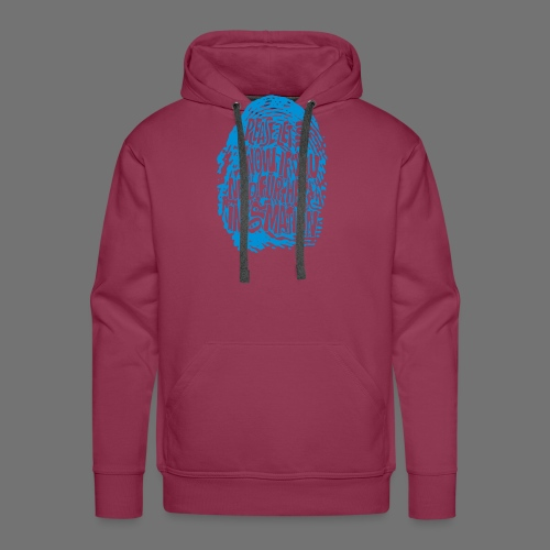 Fingerprint DNA (blue) - Men's Premium Hoodie
