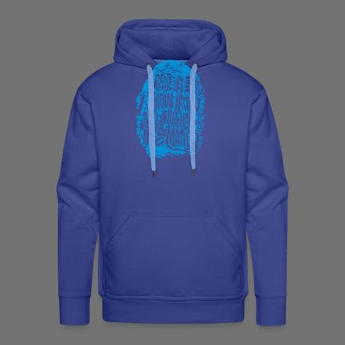 Fingerprint DNA (blue) - Men's Premium Hoodie