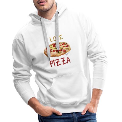 I love Pizza - Männer Premium Hoodie