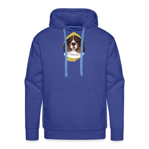 Dog with Hat - Männer Premium Hoodie
