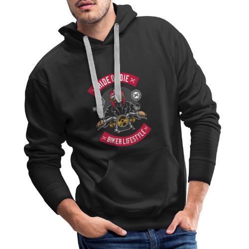 Biker Ride or Die with The Biker Lifestyle - Sweat-shirt à capuche Premium pour hommes