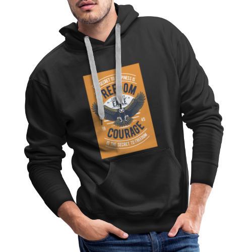 Freedom Eagle - Sweat-shirt à capuche Premium pour hommes