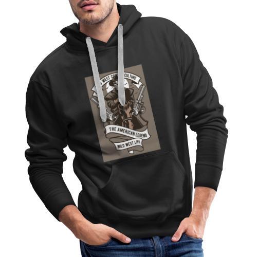 Wild West Cowboy - Sweat-shirt à capuche Premium pour hommes