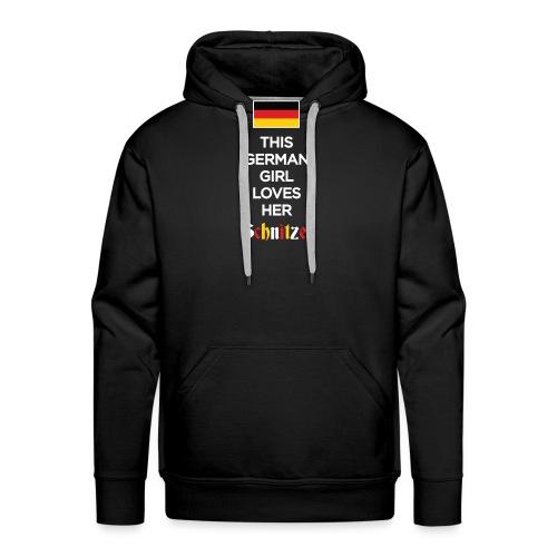 Girl loves her Schnitzel - Männer Premium Hoodie