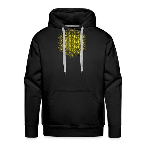 Flower of Life Dimensions Yellow - Men's Premium Hoodie