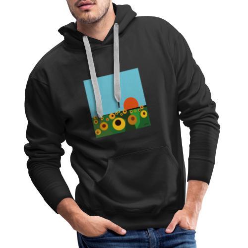 Tournesol - Sweat-shirt à capuche Premium pour hommes
