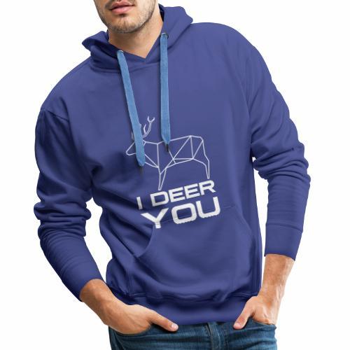 I Deer You - Mannen Premium hoodie
