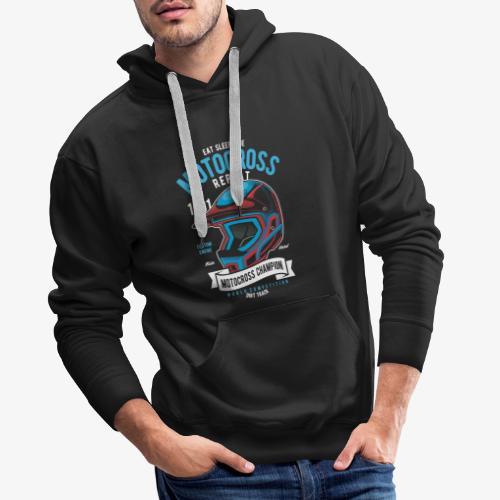Casque de champion de motocross - Sweat-shirt à capuche Premium pour hommes