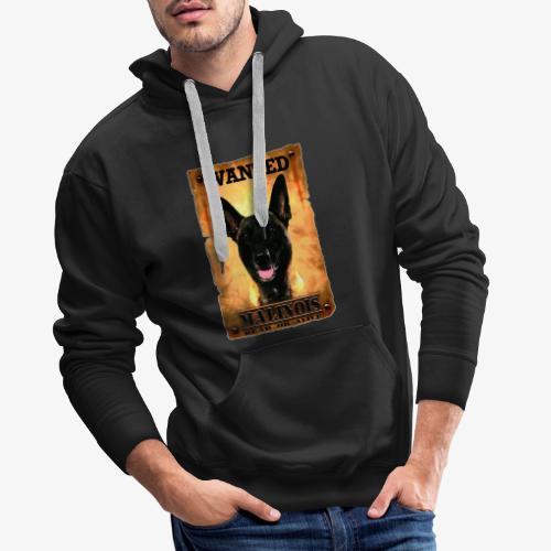 malinois wanted - Sweat-shirt à capuche Premium pour hommes