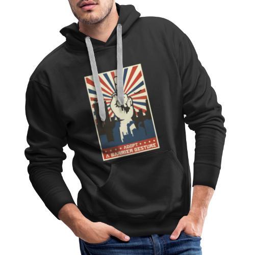 stop capitalisme - Sweat-shirt à capuche Premium pour hommes