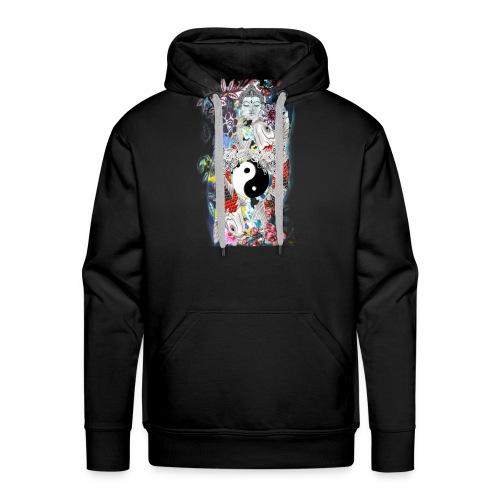 Koi Ying Yang Kollection (Mann) - Männer Premium Hoodie