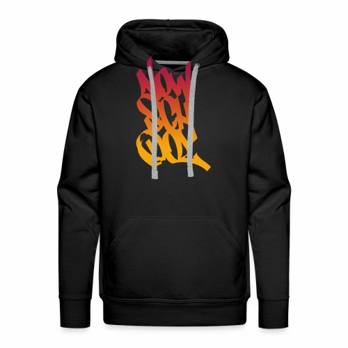 NowSchOol Marker Design (Colors V2) - Men's Premium Hoodie