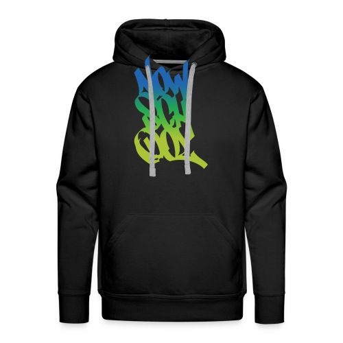 NowSchOol Marker Design (Colors) - Men's Premium Hoodie