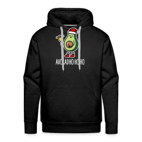 Avocad ho ho ho avocado Santa Claus pun keto diet - Men's Premium Hoodie