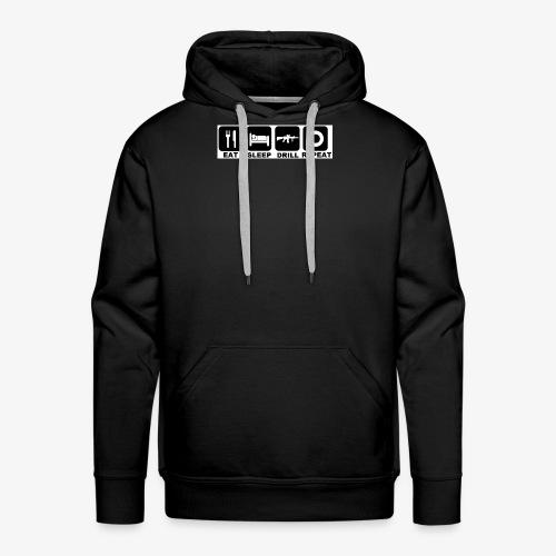 Eat Sleep Drill Repeat - Sweat-shirt à capuche Premium pour hommes