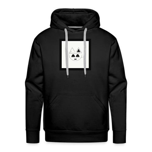 Geometric cat head - Sweat-shirt à capuche Premium pour hommes