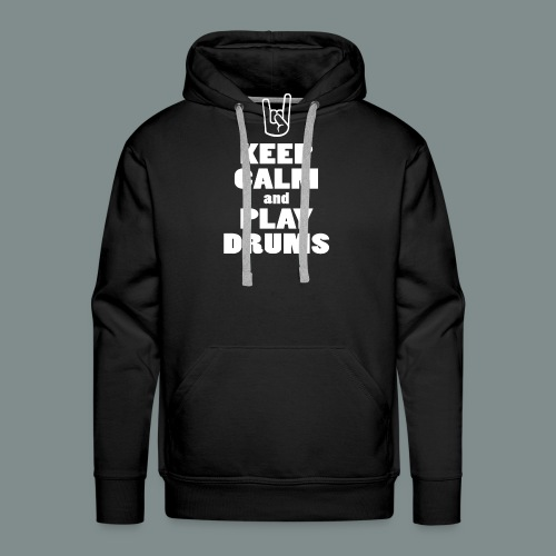 Keep calm and play drums - Sweat-shirt à capuche Premium pour hommes