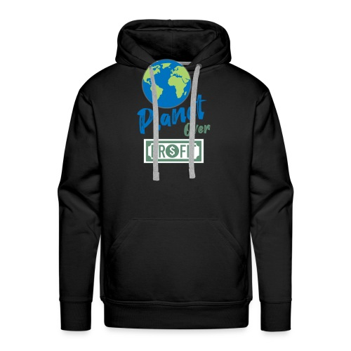 planet over profit - Sweat-shirt à capuche Premium pour hommes