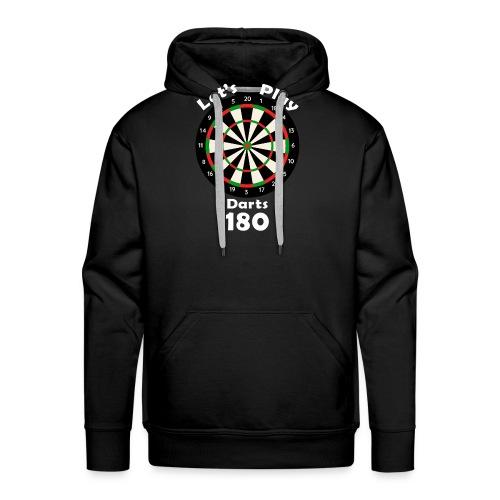 lets play darts - Mannen Premium hoodie