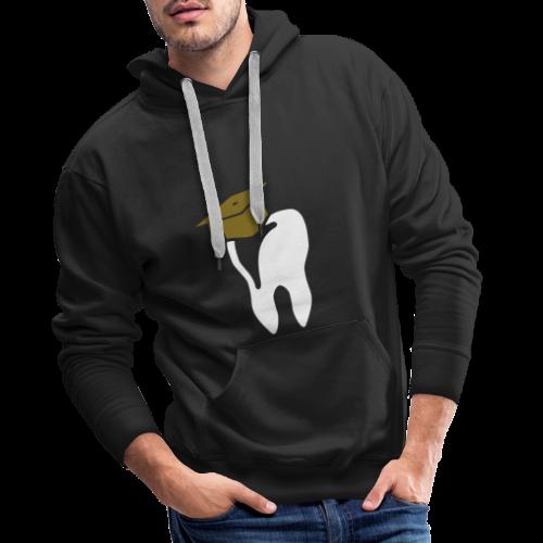 Zahn mit Doktorhut für Zahnarzt Zahnmedizin - Männer Premium Hoodie