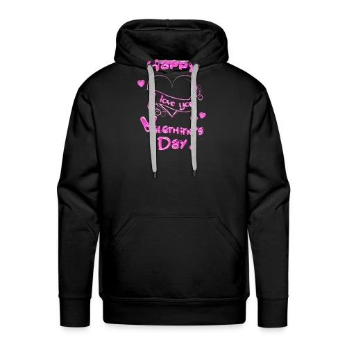 Happy Valentines Day Valentinstag in pink - Männer Premium Hoodie