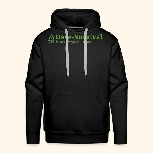 Oase-Survival Logo grün - Männer Premium Hoodie
