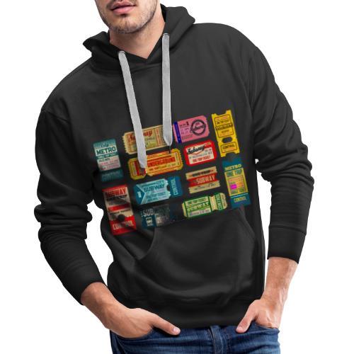 SUBWAY BROADWAY - Sudadera con capucha premium para hombre