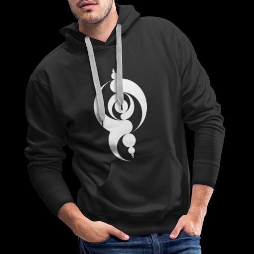 Motif Crop Circle - Sweat-shirt à capuche Premium pour hommes
