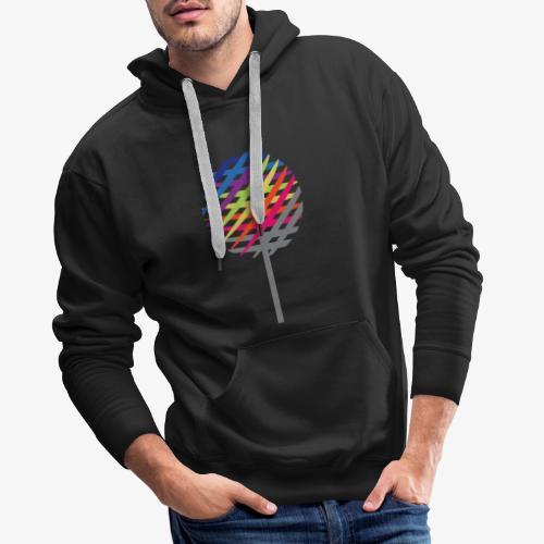 Albero Arcobaleno - Felpa con cappuccio premium da uomo