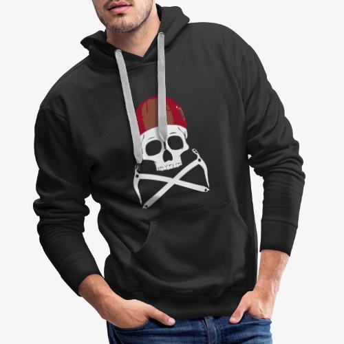 Climber Pirats skull white - Men's Premium Hoodie