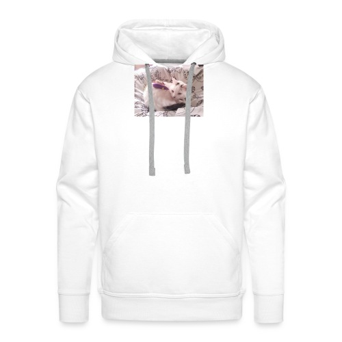 CAT SURROUNDED BY MICE AND BUTTERFLIES. - Men's Premium Hoodie