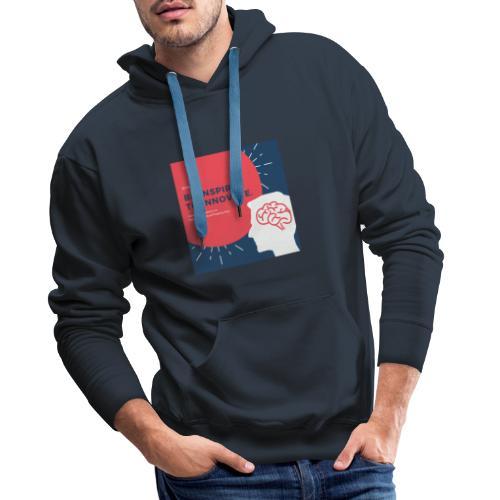 Inteligencia - Sudadera con capucha premium para hombre