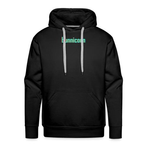 Triple colour Bunnicorn embroidery - Men's Premium Hoodie