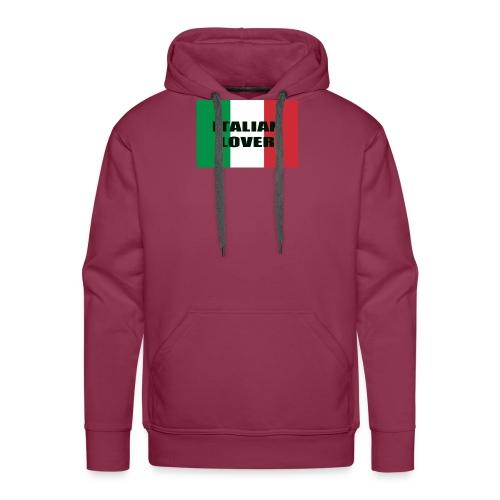 ITALIAN LOVER - Felpa con cappuccio premium da uomo