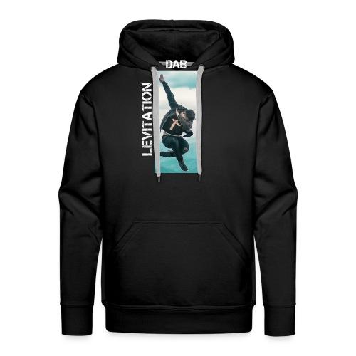 DAB levitation motif blanc - Sweat-shirt à capuche Premium pour hommes