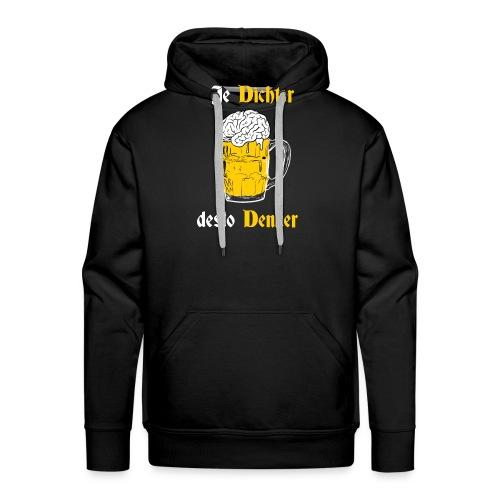 Dichter & Denker Bierkrug - Bierphilosoph - Männer Premium Hoodie