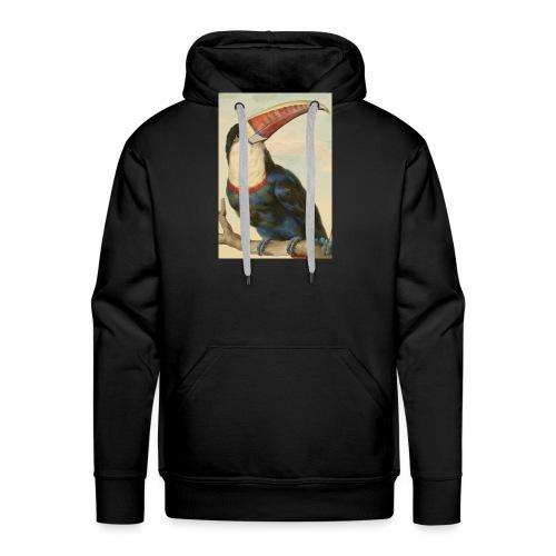 TOUCAN A BEC ROUGE - Sweat-shirt à capuche Premium pour hommes