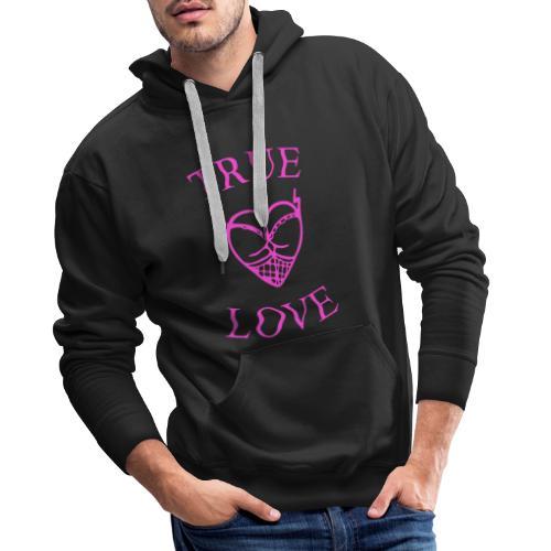 true love - Sudadera con capucha premium para hombre