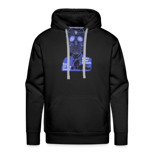 BBB-Day-Of-The-Dead-Blue - Men's Premium Hoodie