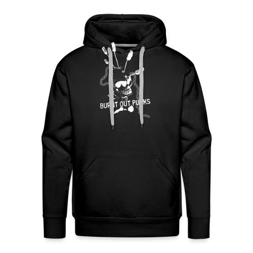 Burnt Out Punks Black Hoodie - Men's Premium Hoodie