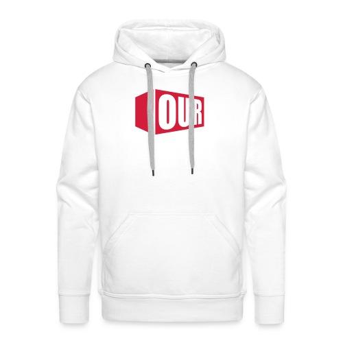 OOR Logo stacked neg - Men's Premium Hoodie