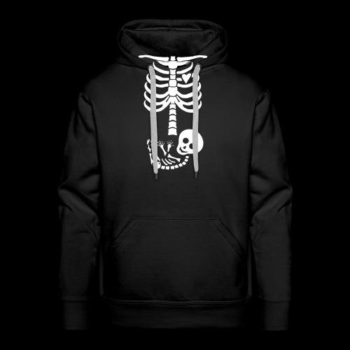 Baby Skelett US Version Maternity / Schwangerschaf - Männer Premium Hoodie