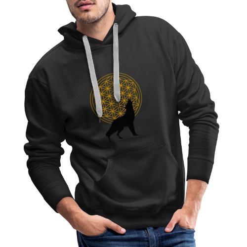 fleur de vie loup n°2 - Sweat-shirt à capuche Premium pour hommes