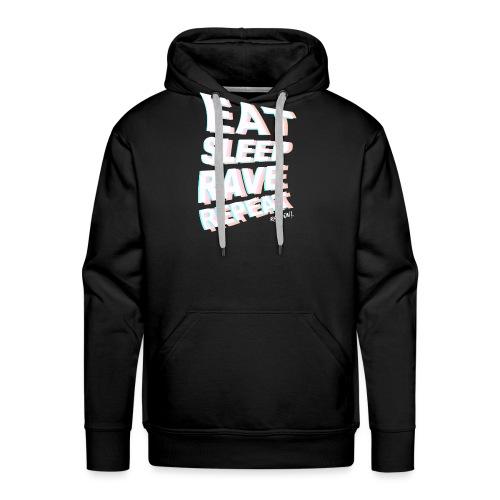 Eat Sleep Rave Repeat Rave On! - Rave On Clothing - Männer Premium Hoodie
