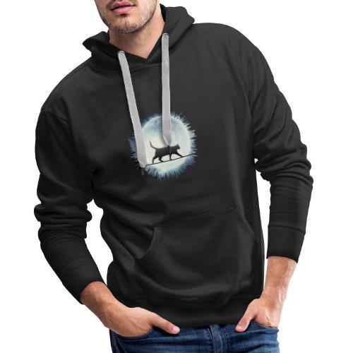 Chat au clair de lune - Sweat-shirt à capuche Premium pour hommes